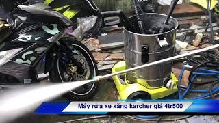 Máy rửa xe ozito và máy rửa xe karcher chạy xăng giá rẻ