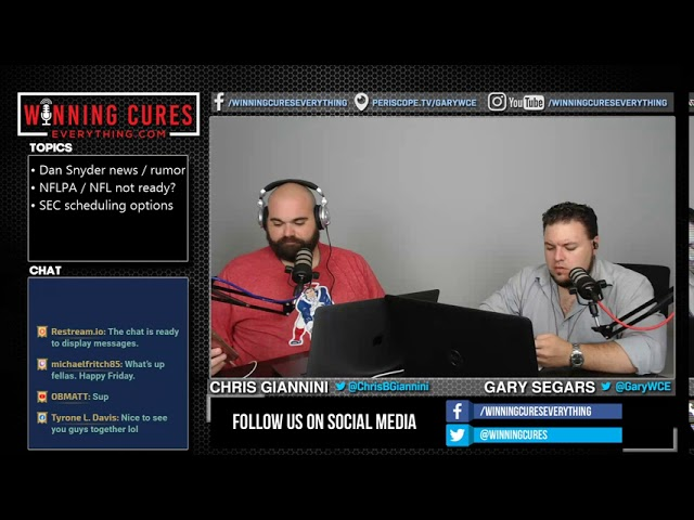 7/17 TJ Rives joins to discuss Dan Snyder news, NFLPA / NFL not ready & SEC Scheduling