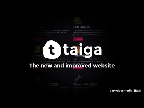 The new and improved taiga Website - taigabot.net