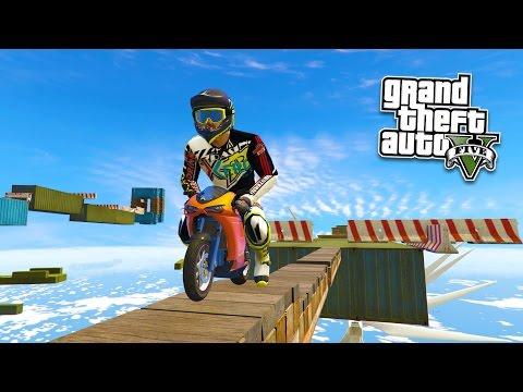 GTA 5 Mods - BIKE STUNTS CHALLENGES MOD w/ MINI BIKE! GTA 5 Ramp Mod Gameplay! (GTA 5 Mods Gameplay)