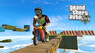 GTA 5 Mods - BIKE STUNTS CHALLENGES MOD w/ MINI BIKE! GTA 5 Ramp Mod Gameplay! (GTA 5 Mods Gameplay)