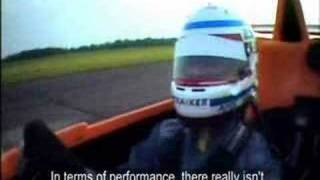 Jason Plato Caparo T1 crash test fire