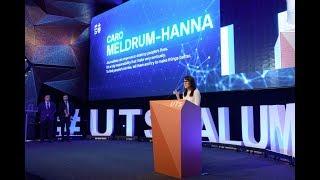 Caro Meldrum-Hanna at the UTS Alumni Awards in 2017