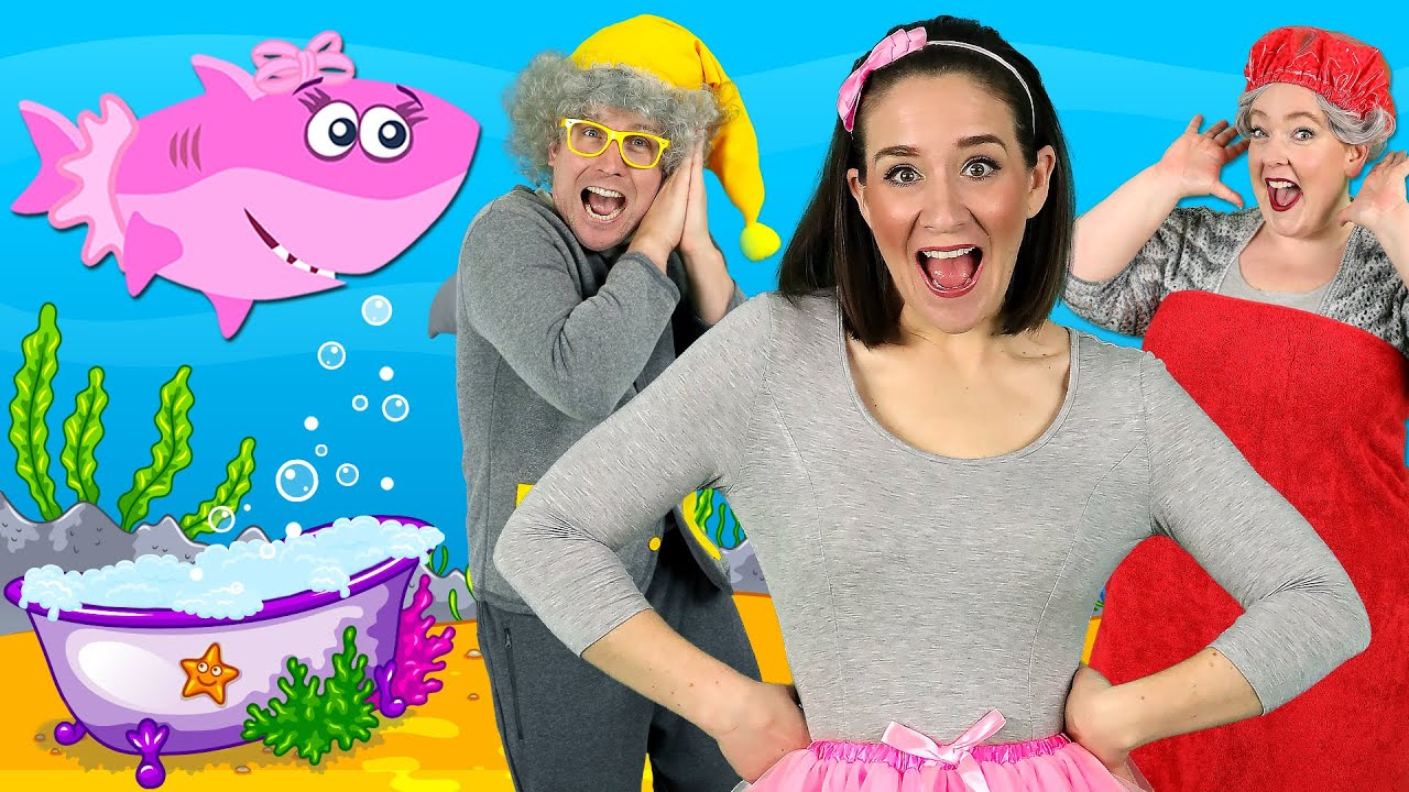 Little Sharks - Kids Song with the Baby Shark family! Kids ...