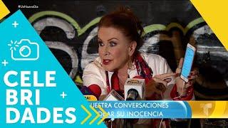 """Laura Zapata muestra un """"chat"""" para probar su inocencia   Un Nuevo Día   Telemundo"""