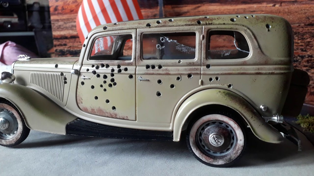 Ford v8 bonnie clyde