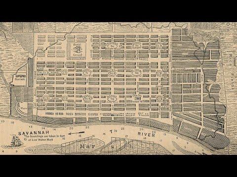 Savannah Georgia History and Cartography (1818)