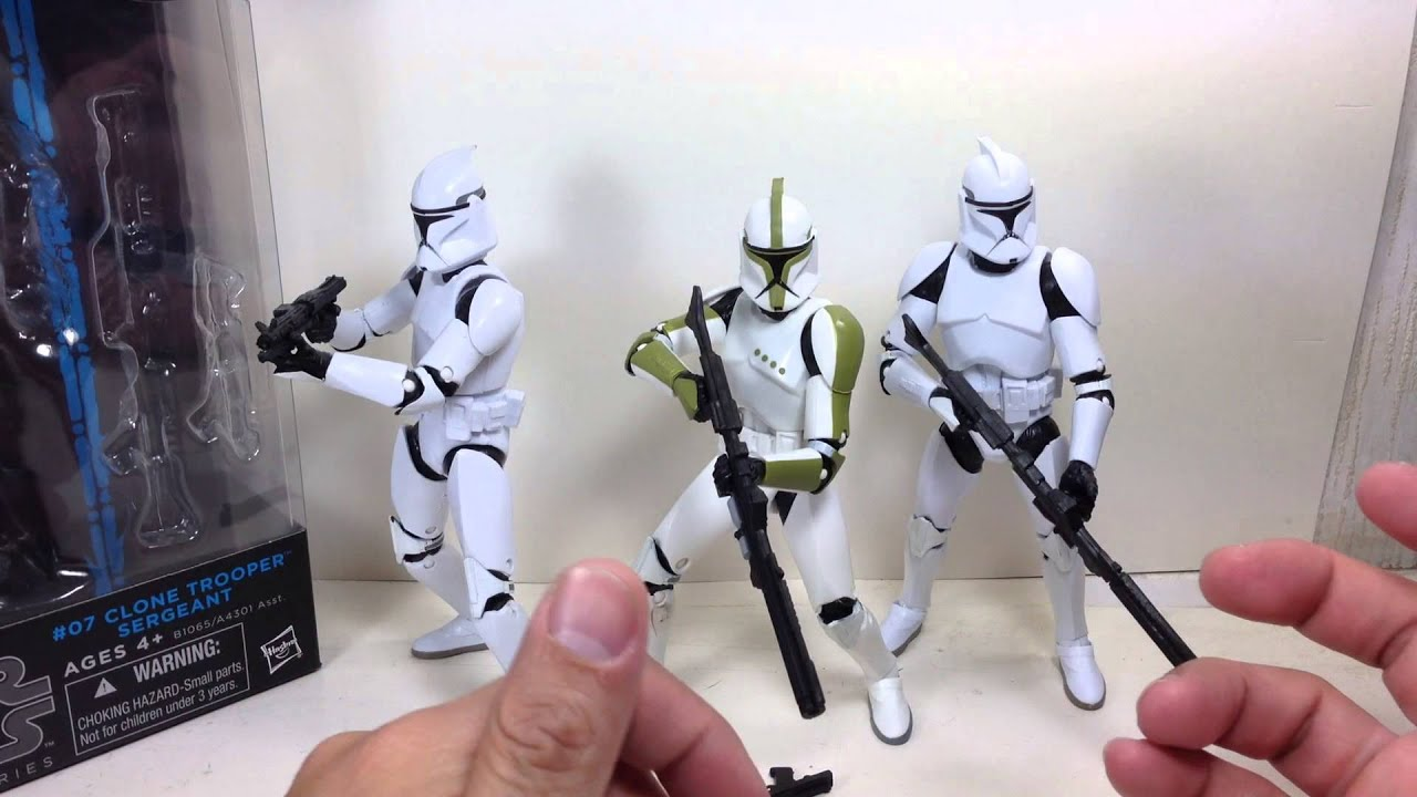Star Wars Hasbro figure 6 inches Black Series 2 # 07 clone troopers Sargent