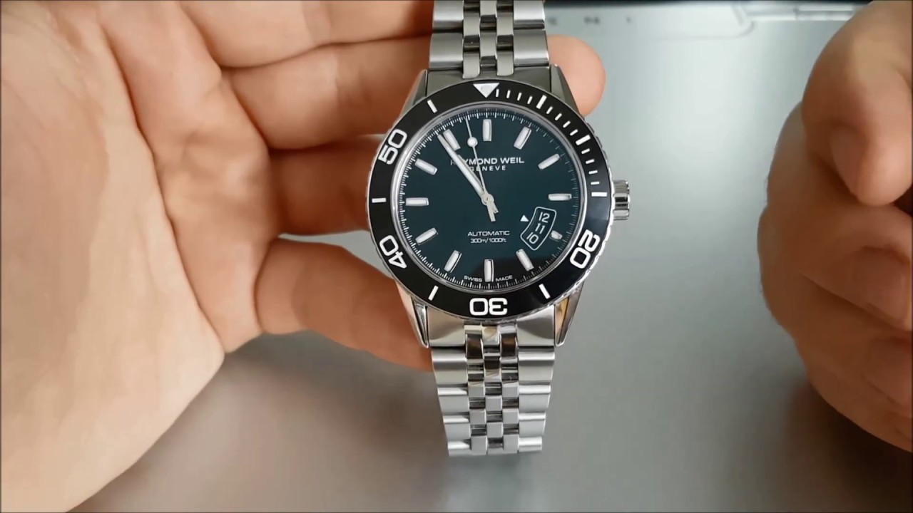 c1e92aa32 Raymond Weil Freelancer review. Great Swiss Automatic Diver under $1500