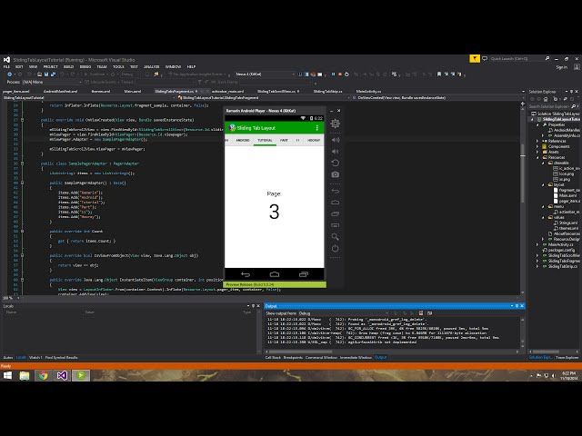 Xamarin Android Tutorial   11   Sliding Tab Layout