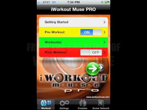 iWorkout Muse PRO Best Fitness Music App for iPhone and iPod Touch
