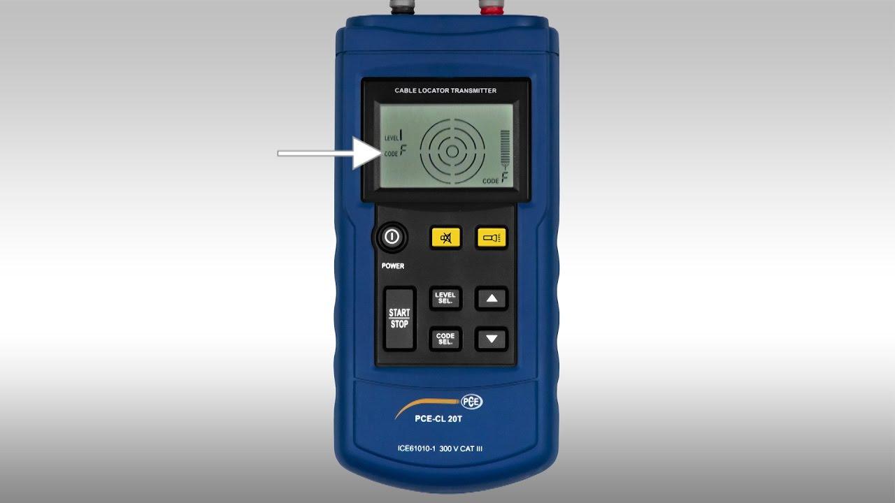 bedienungsanleitung kabelsucher pce-cl 20 | pce instruments - youtube
