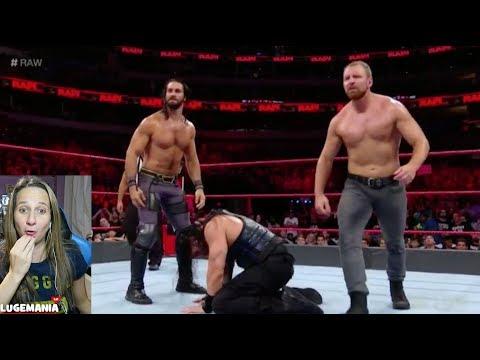 WWE Raw 91718 No DQ Roman vs Baron Corbin