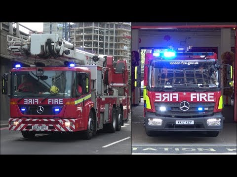 Fire trucks & cars responding - BEST OF 2017 - Siren, horn & action
