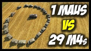 ► World of Tanks: 1 Maus vs 29 M4 Shermans - Jumping, Drowning, Killing! - Face Off #10