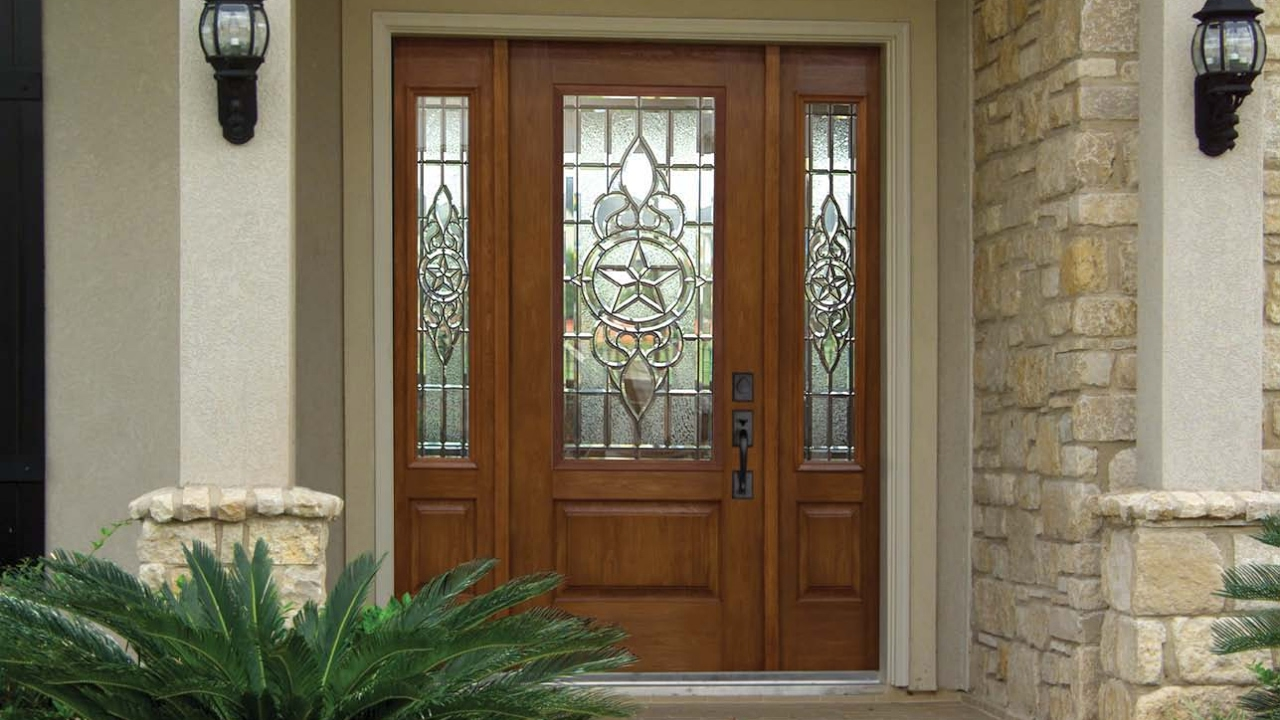 Front House Doors Exterior with Glass Designs & Front House Doors Exterior with Glass Designs - YouTube