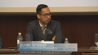 Richard Heydarian talk on Duterte Foreign Policy at CSIS Washington DC