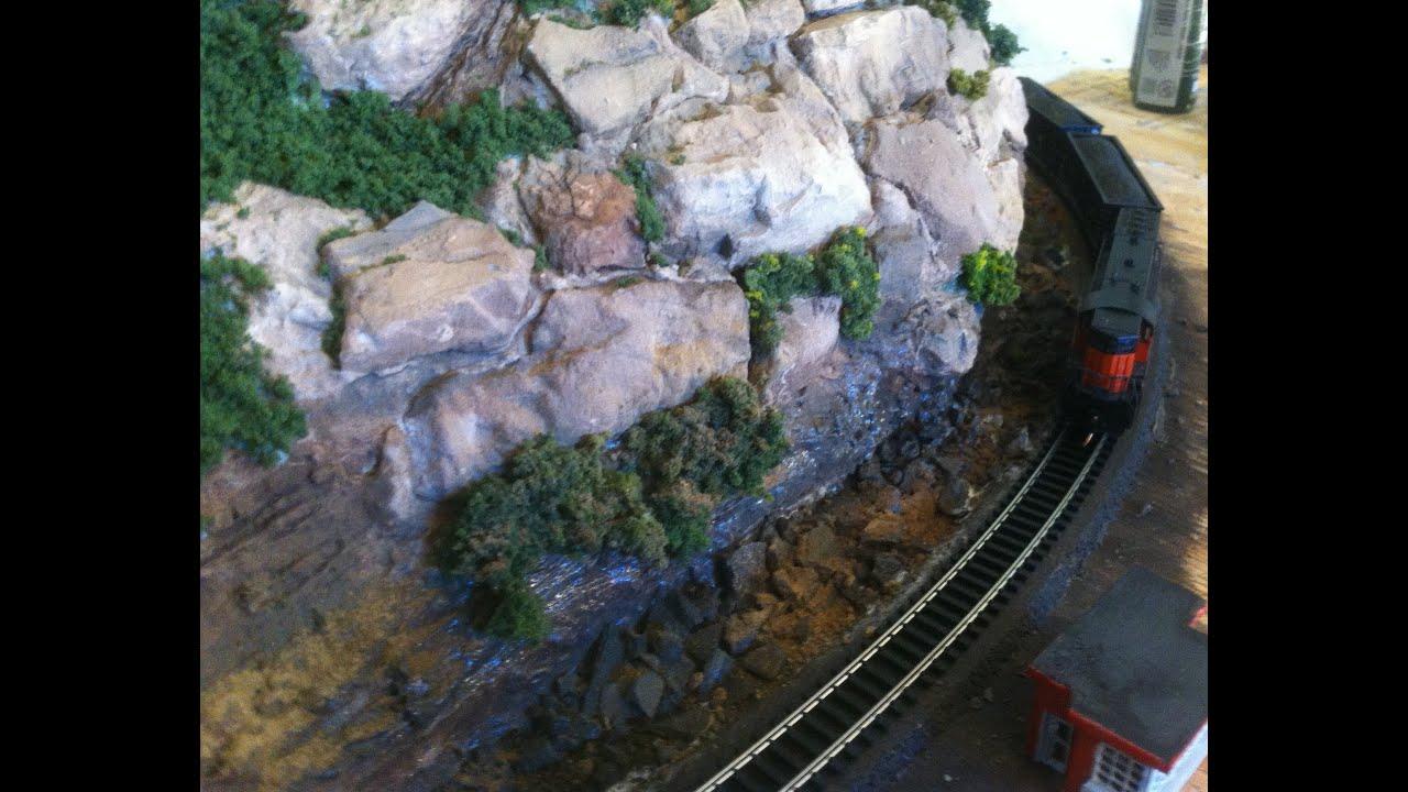 model railroad scenery making