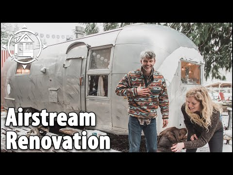 Newlyweds Renovate Airstream Vintage Camper into Tiny Home