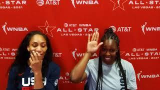 WNBA ALL-STAR: Team USA A'ja Wilson \u0026 Chelsea Gray Media Avail