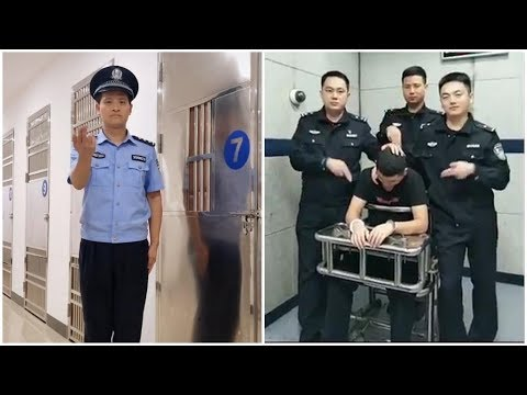 Chinese Police Dance Alongside Torture Chairs On China's Version Of TikTok
