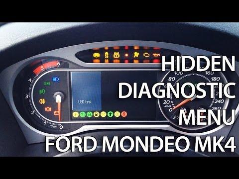 How to enter diagnostic hidden menu in Ford Mondeo MK4 S-Max (converse+ secret factory mode, DTC)