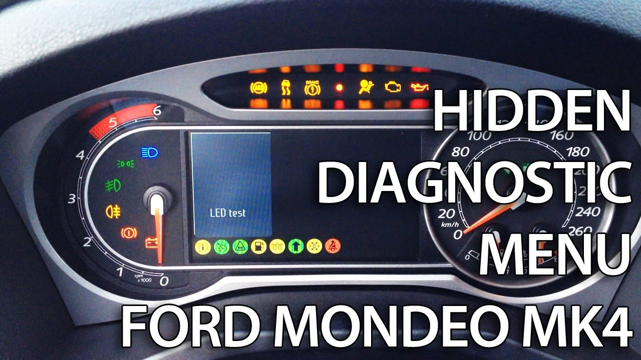How To Enter Diagnostic Hidden Menu In Ford Mondeo Mk4 S
