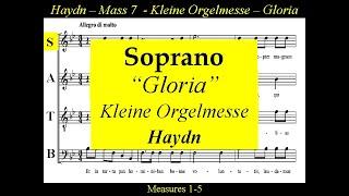 Haydn Kleine Orgelmesse Hob XXII 7 Gloria Soprano