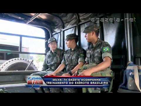 TV Gazeta acompanha treinamento do Exército Brasileiro 07 05 2014 Parte 01