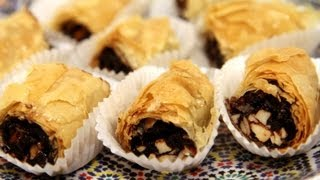 Chocolate Date MHencha (Moroccan Pastry Recipe) - CookingWithAlia - Episode 254