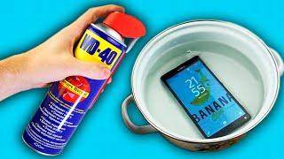 10 ЛАЙФХАКОВ С WD-40, КОТОРЫЕ УПРОСТЯТ ВАШУ ЖИЗНЬ или просто утопите телефон #38   BANANA SHOW