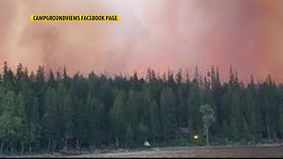 Property owners react to wildfire destruction at Glacier NP