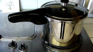 Presto 6-QT Stainless Steel Pressure Cooker in Action
