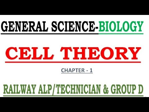 """BIOLOGY CHAPTER 1 """"CELL THEORY""""     TARGET RAILWAY ALP/TECHNICIAN  2018    RRB GROUP D"""
