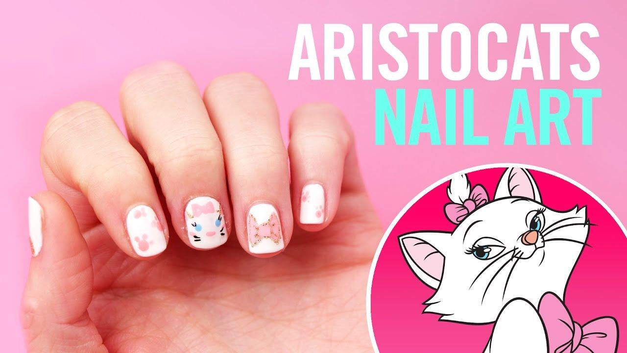 Disney\'s Aristocats Nail Art | TIPS by Disney Style - YouTube