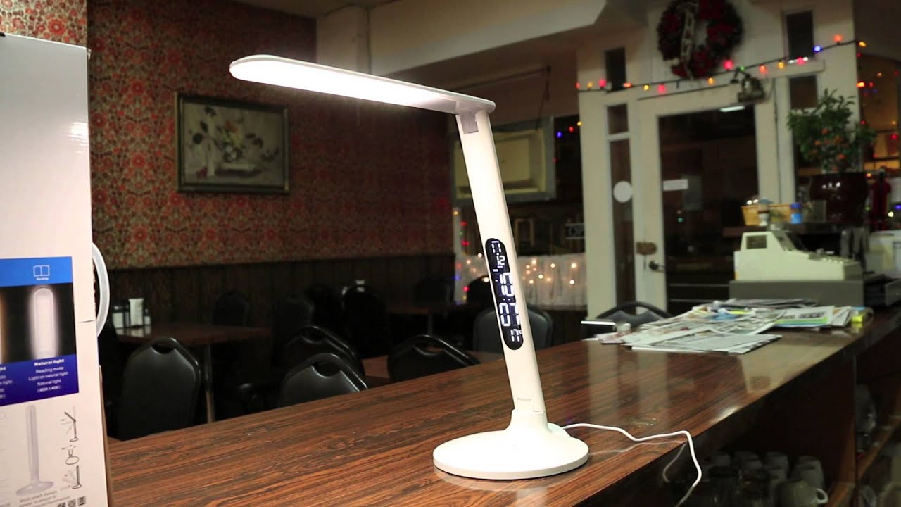 The Most High Tech Led Lamp With Built In Clock Temp