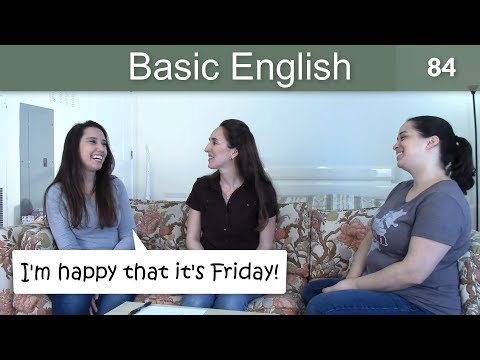 """Lesson 84 ????? Basic English with Jennifer ?????????? """"That"""" Clauses"""