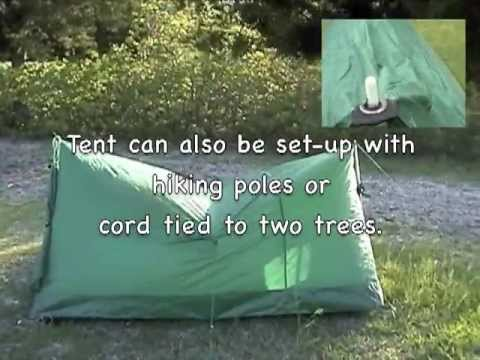 Forest Green Texsport Trail Tent & Forest Green Texsport Trail Tent - YouTube
