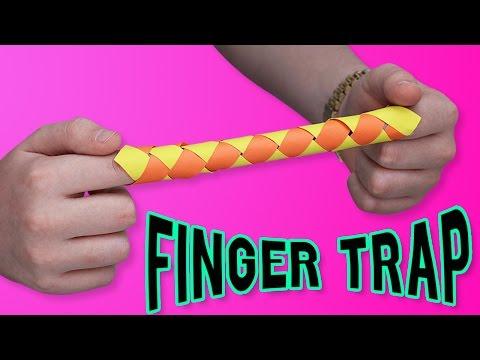 DIY FINGER TRAP?! - Make your own ORIGAMI finger trap?!