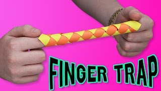 DIY FINGER TRAP?! - Make your own ORIGAMI finger trap?!