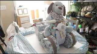 DIY 4 Wheeler Diaper Cake Detailed How To With Trailer