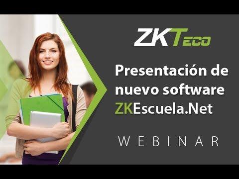 Webinar: Presentación de Nuevo Sotfware ZKEscuela Net (22 Feb 2017)