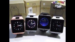 Смарт часы DZ-09 умные часы телефон часофон, фитнес, сенсорные, камера видео обзор Electrons TM