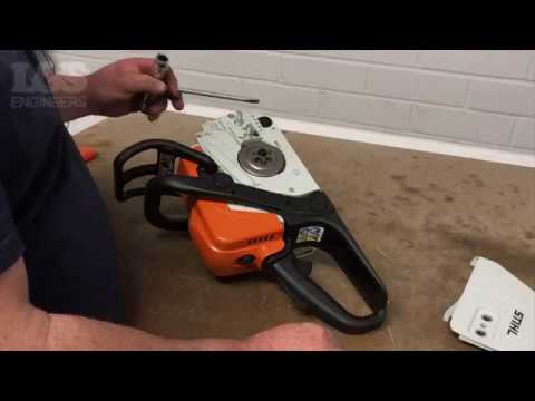 How to Change the Chain Sprocket on a Stihl MS170 Chainsaw | L&S Engineers
