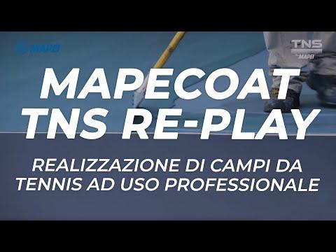 MAPEI: Sistema TNS Remove Re-Play - campi da tennis in resina