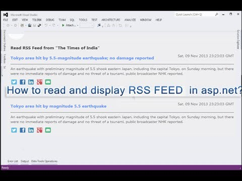 How to read and display RSS FEED  in asp.net C#?