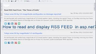 [13.91 MB] How to read and display RSS FEED in asp.net C#?