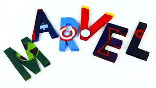 Объемные буквы из пенопласта с персонажами Мстителей своими руками(, 2016-04-29T12:00:00.000Z)