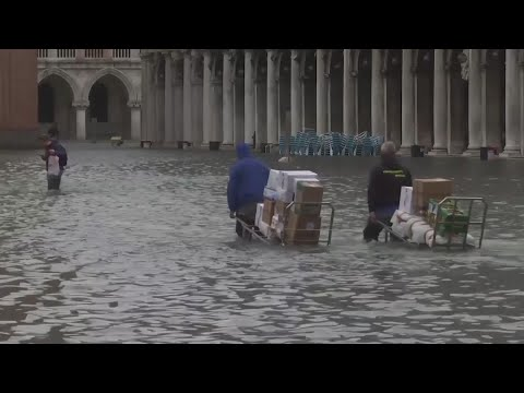 Rising tidal waters continue to threaten Venice