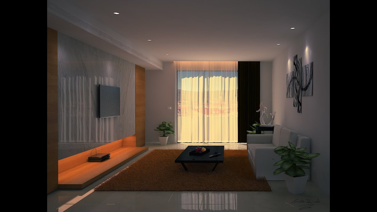 3d timelapse living room modeling 3ds maxzbrush for Living room 3ds max